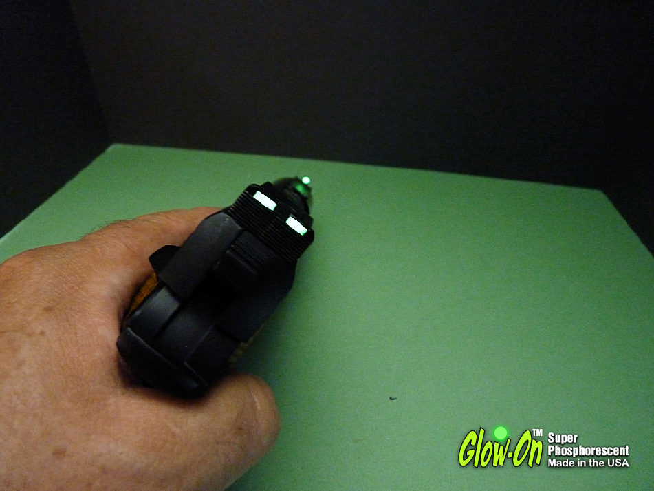 This Is What Glow On Super Phosphorescent Gun Sights Paint Does